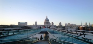 London's Millennium Bridge leading to St. Paul's Cathedral