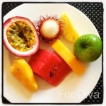 Tropical fruit for brekkie at Anantara Hoi An