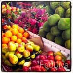 Tropical fruit at the market