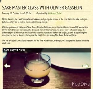 Lime & Tonic's sake masterclass at Hakkasan Dubai
